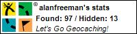 Geocaching profile for alanfreeman