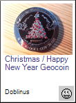 Christmas / Happy New Year Geocoin