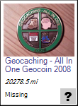 Geocaching - All In One Geocoin 2008