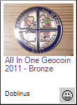 All In One Geocoin 2011 - Bronze
