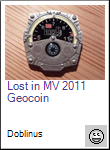 Lost in MV 2011 Geocoin