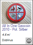 All In One Geocoin 2010 - Poliertes Silber