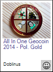 All In One Geocoin 2014 - Pol. Gold