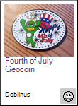 Fourth of July Geocoin