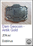 Dam Geocoin - Antik Gold